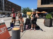 Great local band playing at the Mill City Farmer's Market